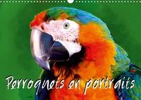 K.a. Sudpastel - Perroquets en portraits (Calendrier mural 2020 DIN A3 horizontal) - Série de 12 créations originales de portraits de perroquets en gros plan. (Calendrier mensuel, 14 Pages ).