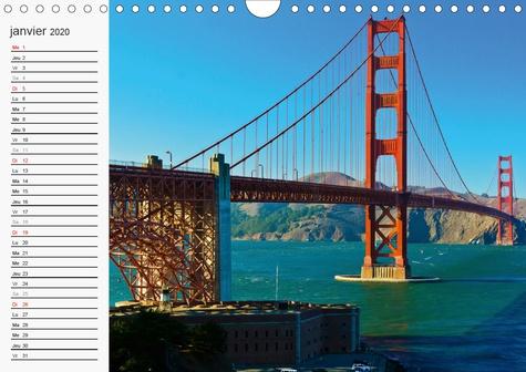 Perspectives de San Francisco (Calendrier mural 2020 DIN A4 horizontal). Une ville où l'on se sent chez soi (Calendrier anniversaire, 14 Pages )