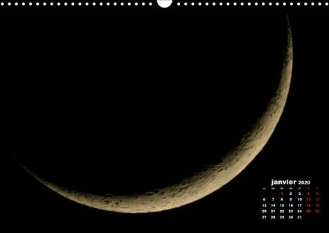 Phases de la lune (Calendrier mural 2020 DIN A3 horizontal). Les différentes phases de la lune du premier au dernier croissant (Calendrier mensuel, 14 Pages )