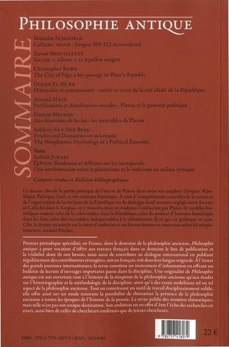 Philosophie antique N° 17, 2017 Platon et la politique