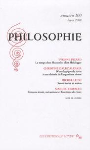 Yvonne Picard et Christine Daluz Alcaria - Philosophie N° 100, Hiver 2008 : .