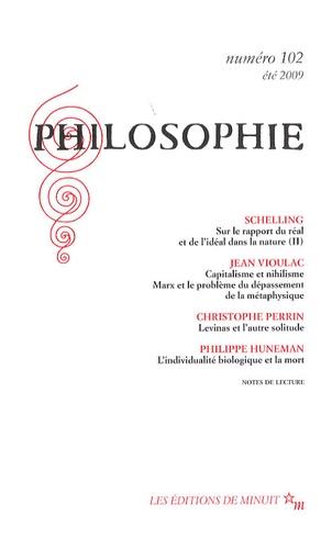 Friedrich von Schelling et Jean Vioulac - Philosophie N° 102, été 2009 : .