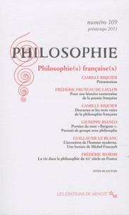 Camille Riquier - Philosophie N° 109, Printemps 20 : Philosophie(s) française(s).