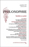 Laurent Perreau - Philosophie N° 115, Automne 2012 : Symbole et société.