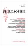 Bernard Bolzano et Wouter Goris - Philosophie N° 125, Mars 2015 : .