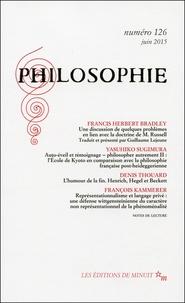Francis Herbert Bradley et Yasuhiko Sugimura - Philosophie N° 126, Juin 2015 : .