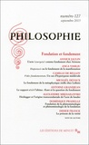 Emmanuel Housset - Philosophie N° 127, Septembre 20 : Fondation et fondement.