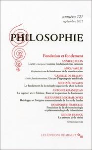 Emmanuel Housset - Philosophie N° 127, Septembre 20 : Fondation et fondement.