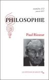 Camille Riquier et Michaël Foessel - Philosophie N° 132, janvier 2017 : Paul Ricoeur.