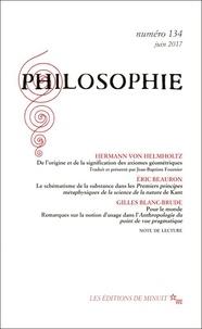 Hermann von Helmholtz et Eric Beauron - Philosophie N° 134, juin 2017 : .