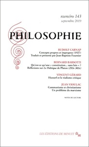 Dominique Pradelle - Philosophie N° 143, septembre 20 : .