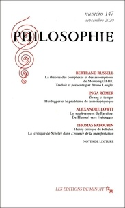 Dominique Pradelle - Philosophie N° 147, septembre 20 : .