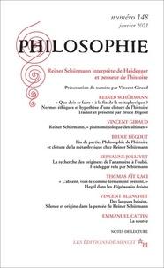 Dominique Pradelle - Philosophie N° 148, janvier 2021 : Reiner Schurmann interprète de Heidegger et penseur de l'histoire.
