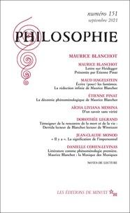 Dominique Pradelle - Philosophie N° 151, septembre 20 : Maurice Blanchot.