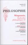 Claude Romano et Elisabeth Rigal - Philosophie N° 84, Hiver 2004 : Wittgenstein, recherches philosophiques (I).