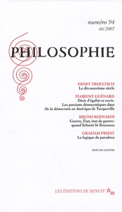 Ernst Troeltsch et Florent Guénard - Philosophie N° 94, été 2007 : .