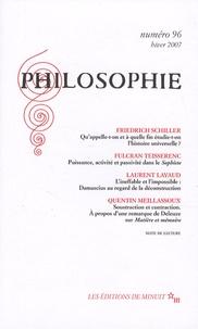 Frédéric Schiller et Fulcran Teisserenc - Philosophie N° 96, Hiver 2007 : .