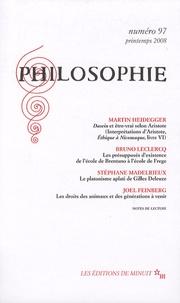 Martin Heidegger et Bruno Leclercq - Philosophie N° 97, Printemps 200 : .