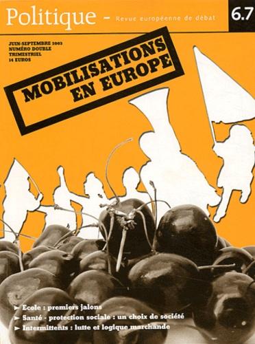 Stephen Bouquin et Patrick Vassallo - Politique N°6/7 Juin-Septembre : Mobilisations en Europe.