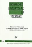 Michela Russo - Pour une typologie diachronique et synchronique des langues romanes.
