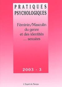 Cendrine Marro et Véronique Perry - Pratiques psychologiques N° 3 Novembre 2003 : Féminin/Masculin - Du genre et des identités... sexuées.