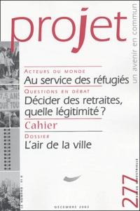 Bertrand Cassaigne et Thierry Paquot - Projet N° 277 Décembre 2003 : L'air de la ville.