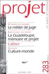 Bertrand Cassaigne et Jean-François Bayart - Projet N° 283, Novembre 200 : Culture-monde.