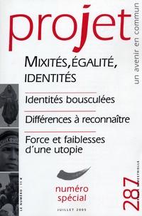 Bertrand Cassaigne - Projet N° 287 : Mixités, égalité, identités.