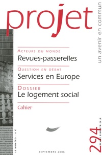 Nicolas Weill et Katharina Erdmenger - Projet N° 294, Septembre 20 : Le logement social.