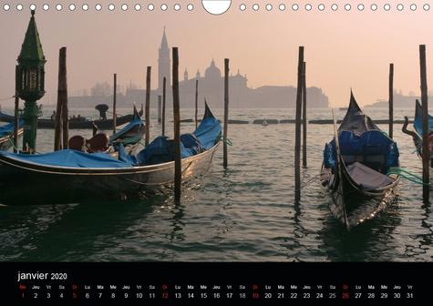 Promenade vénitienne (Calendrier mural 2020 DIN A4 horizontal). Du pont des soupirs au Rialto, découverte des lieux emblématiques de Venise (Calendrier mensuel, 14 Pages )