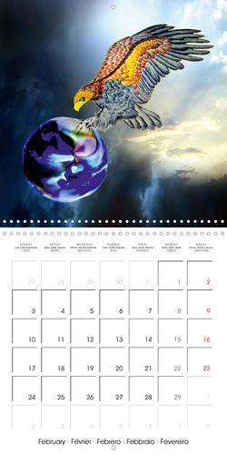 Protéger la Perle Bleue (Calendrier mural 2020 300 × 300 mm Square). Dessins au crayon de couleur : notre beau monde sur le chemin entre la lumière et les ténèbres, entre ici et maintenant. (Calendrier mensuel, 14 Pages )