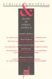 Hana Gottesdiener et Jean Davallon - Publics et Musées N° 8, juillet-décemb : ETUDES DE PUBLICS, ANNEES 30.