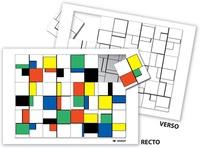 Serge Boëche - Puzzle à la manière de Mondrian.