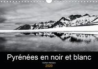 Guilhem Manzano - Pyrénées en noir et blanc (Calendrier mural 2020 DIN A4 horizontal) - Images de paysages des Pyrénées en noir et blanc (Calendrier mensuel, 14 Pages ).