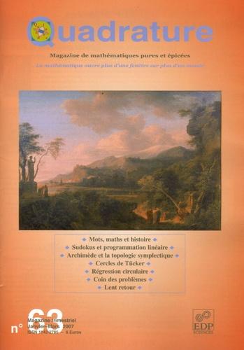 Bertrand Hauchecorne - Quadrature N° 63, Janvier-Mars : .