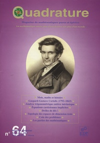 Bertrand Hauchecorne et Norbert Verdier - Quadrature N° 64, Avril-Juin 20 : .