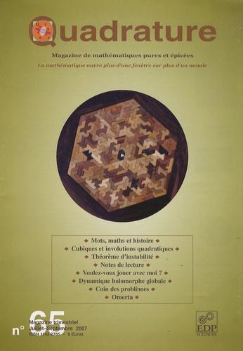 Olivier Courcelle - Quadrature N° 65, juillet-septe : Un siecle de dynamique holomorphe.