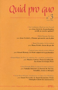 Jean Allouche et Jean Clavreul - Quid pro quo N° 3, Février 2008 : .