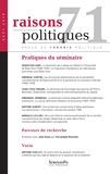 Sébastien Caré et Gwendal Châton - Raisons politiques N° 71, août 2018 : Pratiques du séminaire.