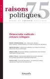 Revue - Raisons politiques N° 75 : .