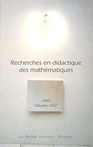 Isabelle Bloch et François Pluvinage - Recherches en didactique des mathématiques Volume 19/2 N° 56 : .