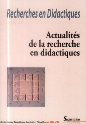 Ana Dias-Chiaruttini - Recherches en Didactiques N° 17, Mai 2014 : Actualités de la recherche en didactiques.