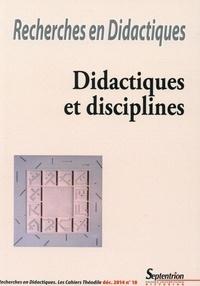 Cora Cohen-Azria et Catherine Souplet - Recherches en Didactiques N° 18-2014 : Didactiques et disciplines.