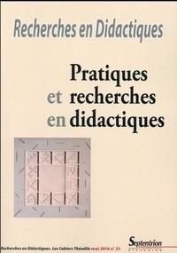 Ana Dias-Chiaruttini - Recherches en Didactiques N° 21, mai 2016 : Pratiques et recherches en didactiques.