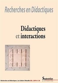 Maria Kreza et Cora Cohen-Azria - Recherches en Didactiques N° 28, décembre 2019 : Didactiques et interactions.