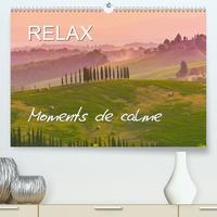 Juergen Feuerer - RELAX - Moments de calme (Calendrier supérieur 2020 DIN A2 horizontal) - Paysages qui invite au repos (Calendrier mensuel, 14 Pages ).