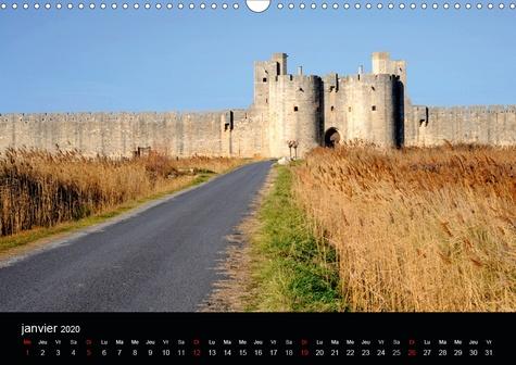 Remparts (Calendrier mural 2020 DIN A3 horizontal). Les remparts d'Aigues-Mortes (Calendrier mensuel, 14 Pages )