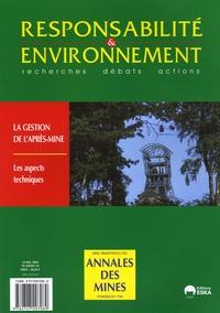 Annales des mines - Responsabilité & environnement N° 34, Avril 2004 : .