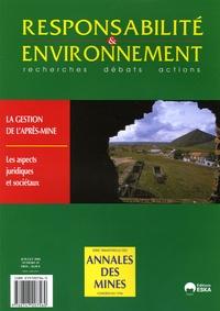 Annales des mines - Responsabilité & environnement N° 35, Juillet 2004 : .