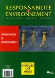 François Valérian et William Dab - Responsabilité & environnement N° 41, Janvier 2006 : L'homme malade de l'environnement ?.